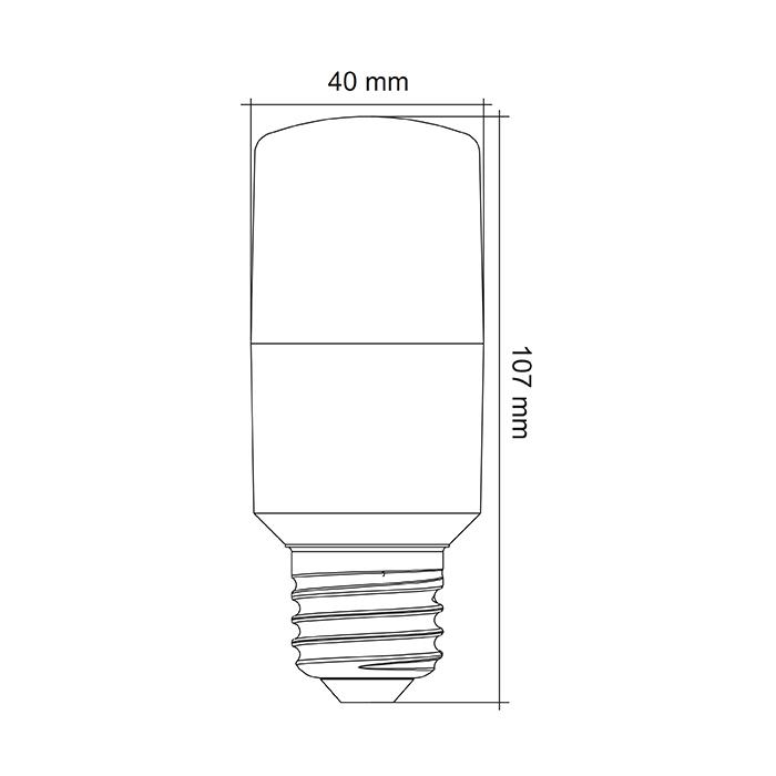 GLS Tubular LED 9w SAL LT409 Dimmable Globe