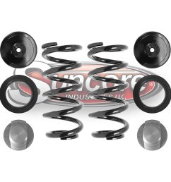 rear air to coil spring airmatic suspension conversion kit e class w211 [ 1000 x 1000 Pixel ]
