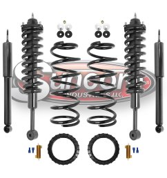 air suspension air to coil springs and struts conversion kit with gas shock absorbers bundle  [ 1000 x 1000 Pixel ]
