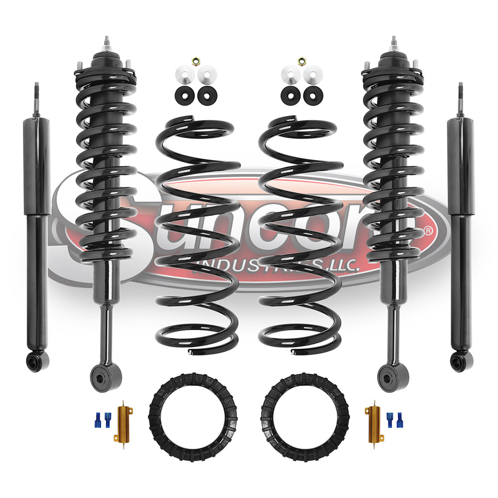 medium resolution of air suspension air to coil springs and struts conversion kit with gas shock absorbers bundle