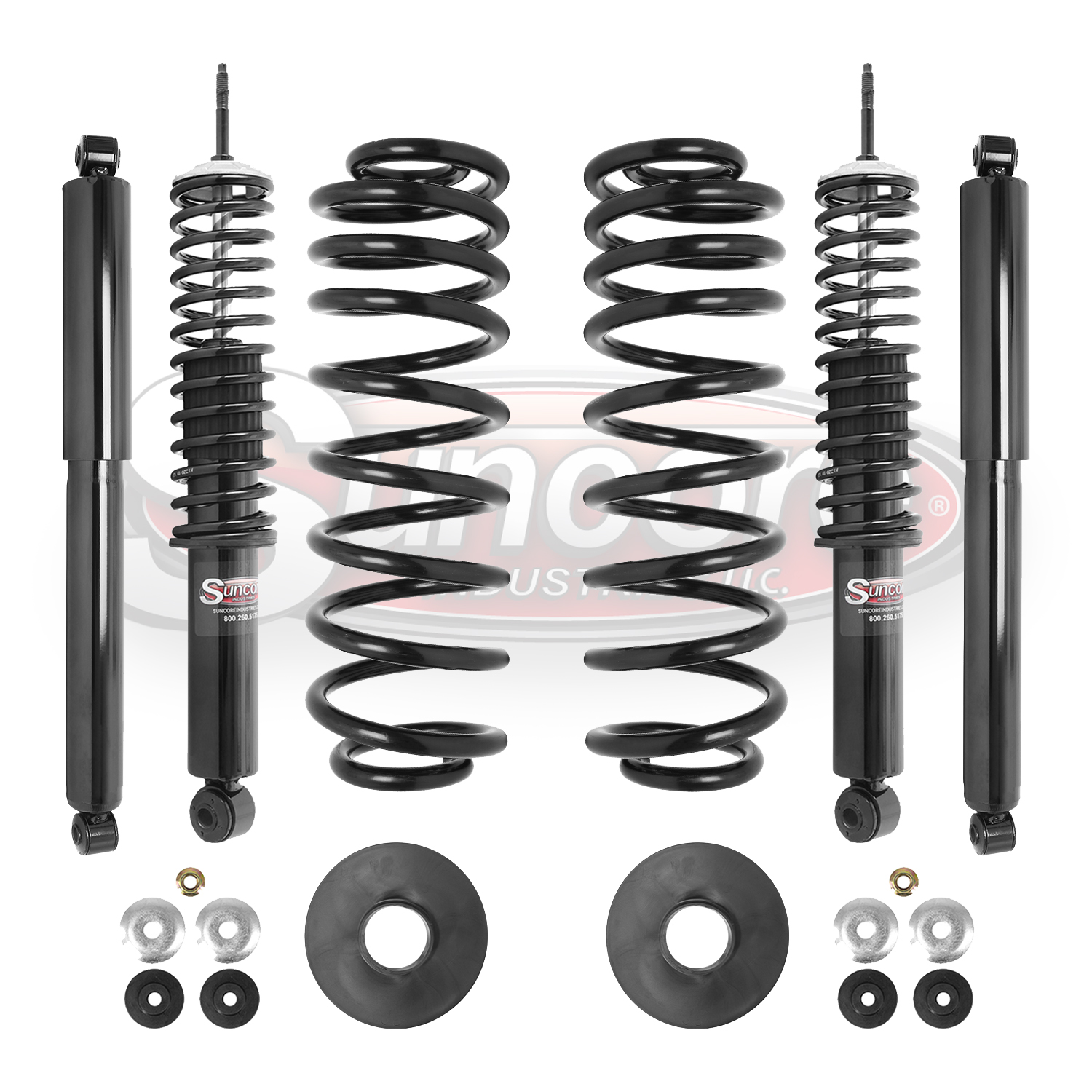 hight resolution of 4wd suspension air to coil spring conversion kit with gas shocks bundle navigator expedition