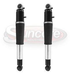 new rear pair magnetic air shock absorbers z55 magnaride oe design gmc cadillac chevy [ 1500 x 1500 Pixel ]