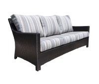 Flight Wicker Deep Seating Sofa - Patio Furniture at Sun ...