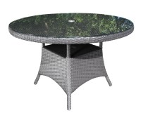 """Solano Round Wicker 42"""" Dining Table - Patio Furniture at ..."""