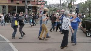 Dancing at Jane Warner Plaza
