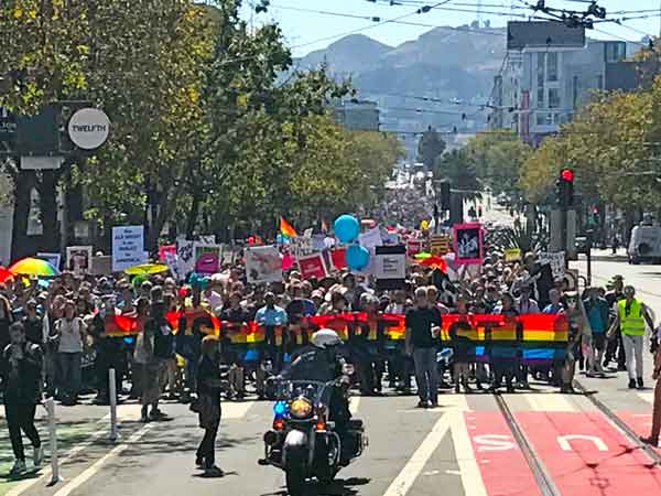 Counter-protest march, San Francisco, Aug. 26, 2017