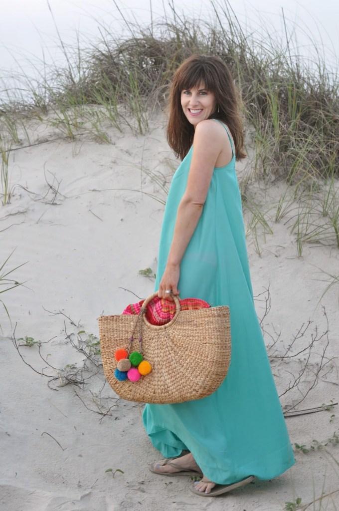 ONE by Pink Stitch Resort Maxi JADEtribe Beach Basket