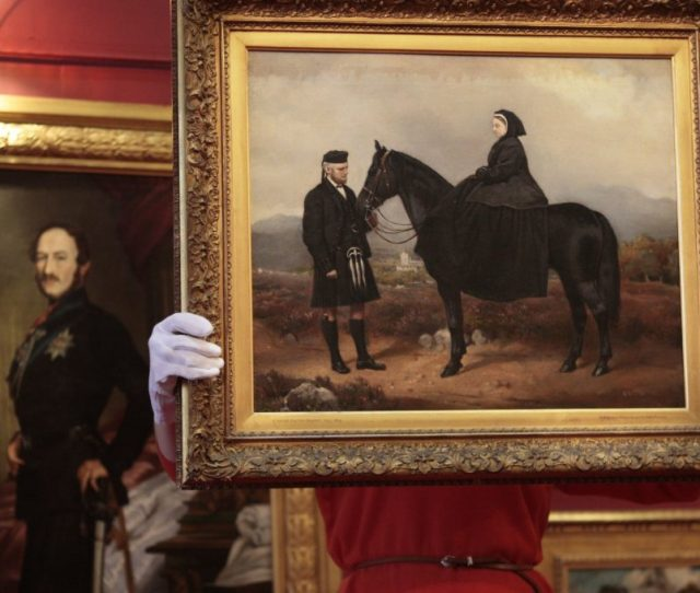 An Oil Painting Of Queen Victoria And John Brown David Cheskin Pa Archive