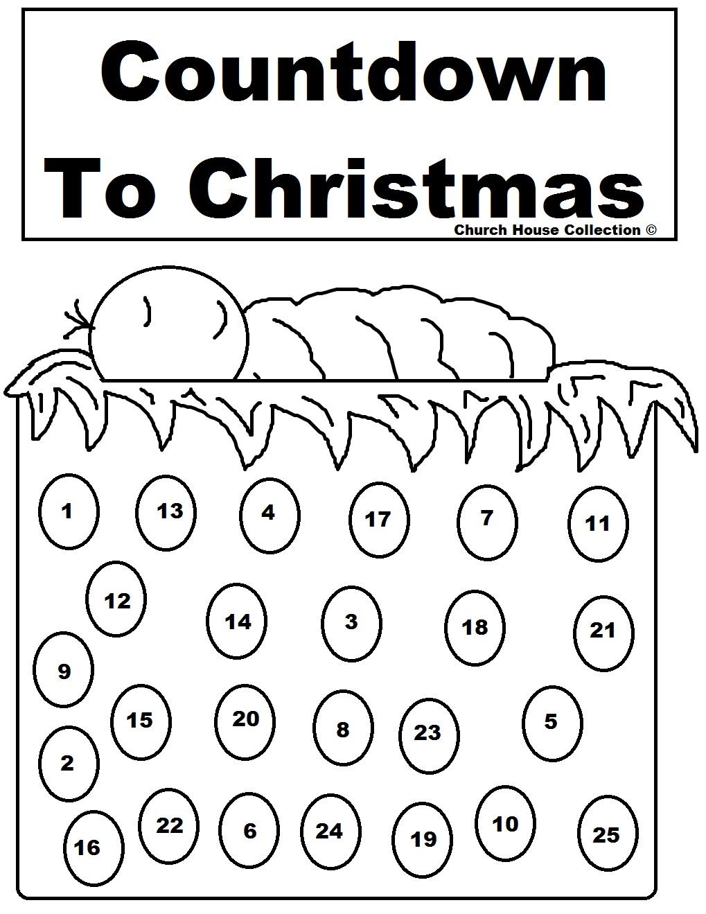 Baby Jesus Advent Calendar