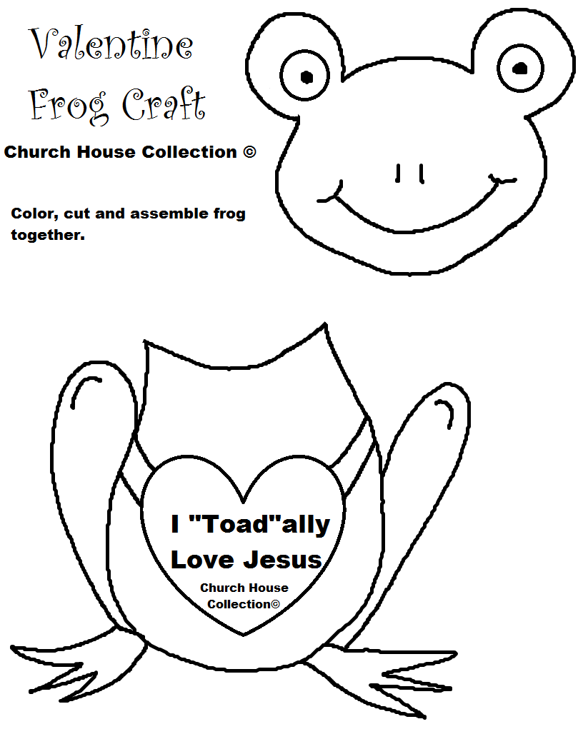 Frog Valentine Craft I Toad-ally Love Jesus