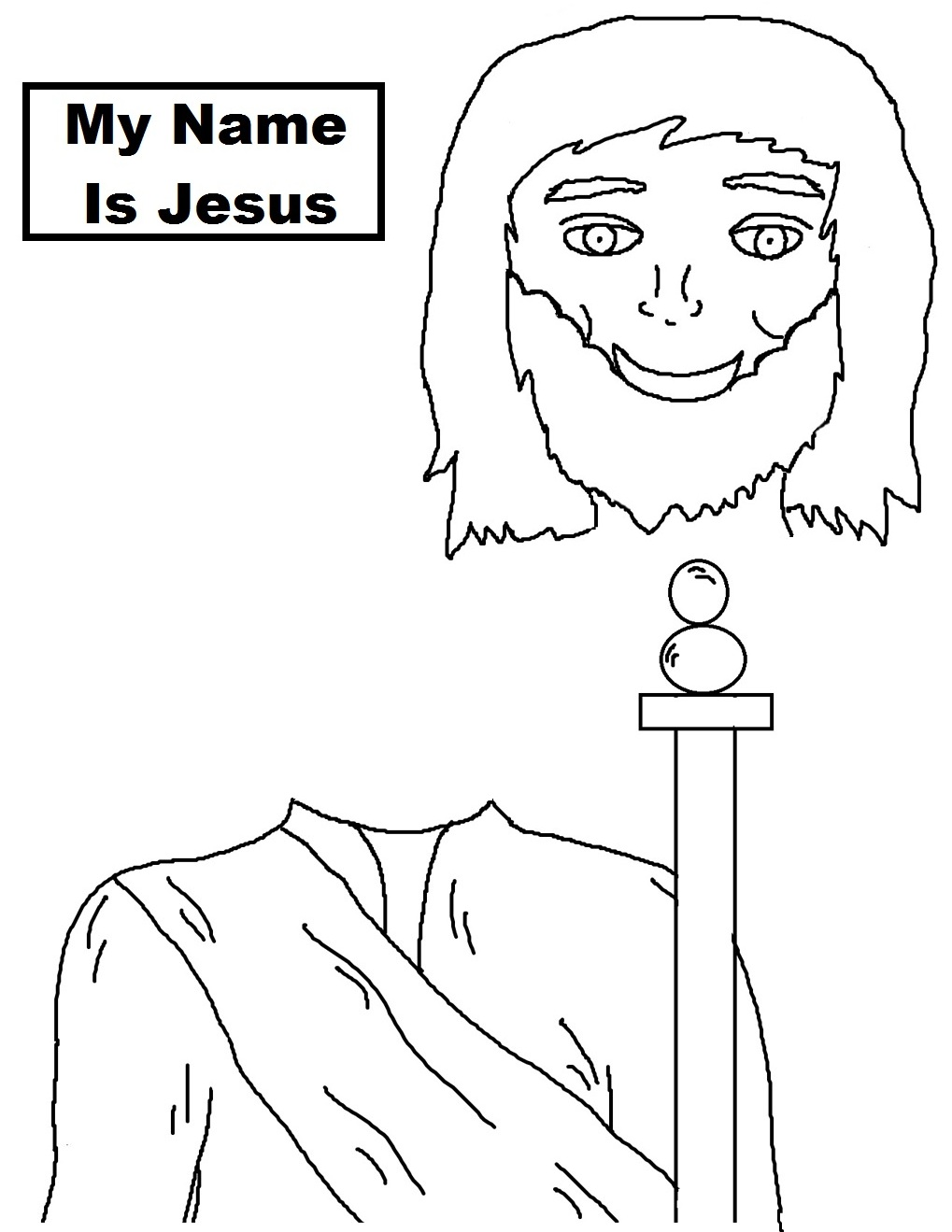 Jesus Stick Puppet Templates Printable Pictures to Pin on