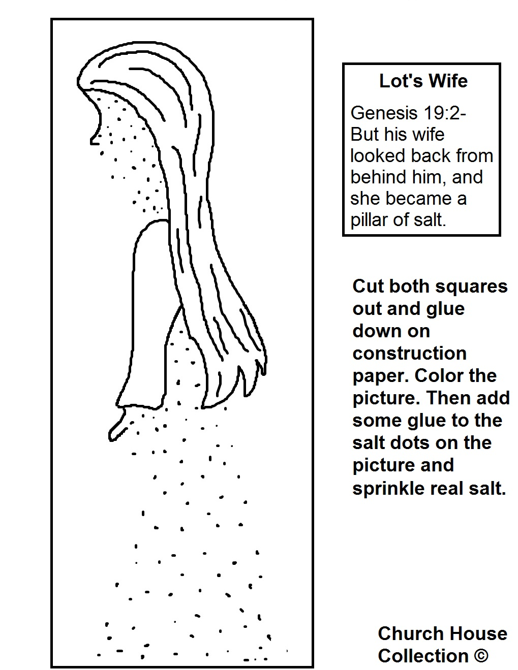 Lot's Wife Pillar of Salt Craft