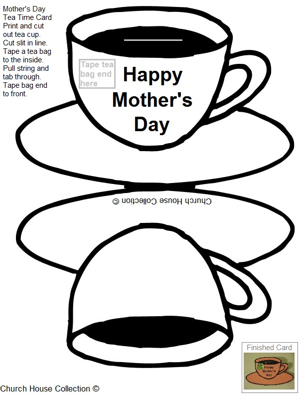 Printable Mother's Day Tea Card