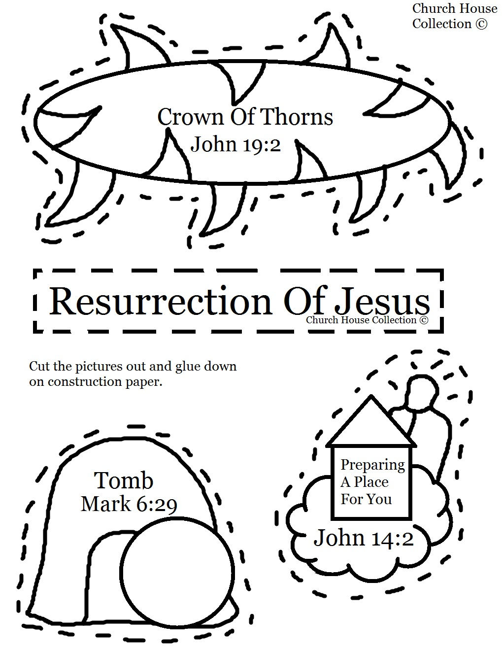 Resurrection Of Jesus Cut Out Craft For Kids