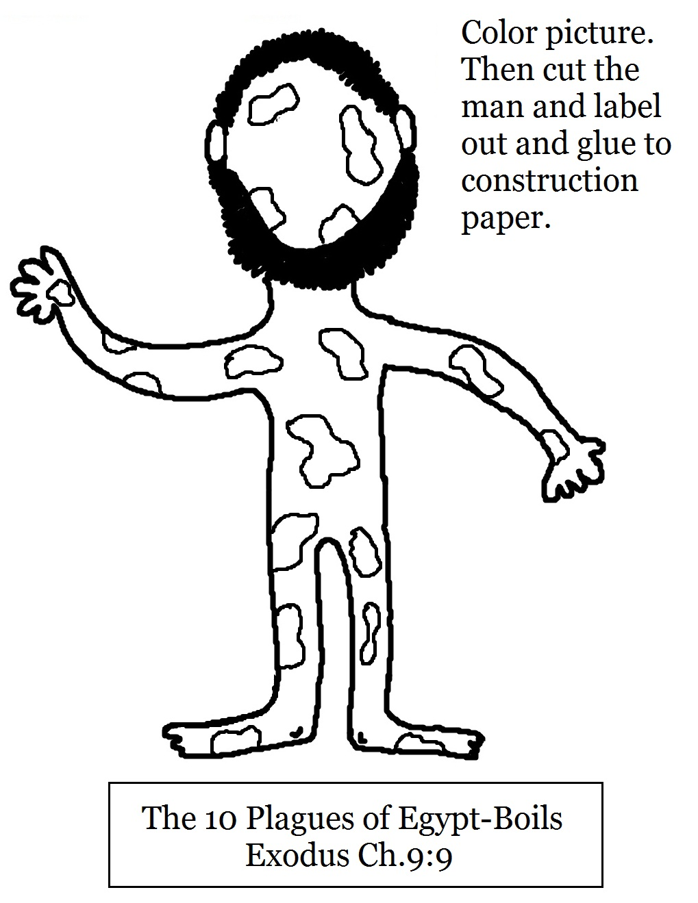 Free ten plagues of egypt coloring pages