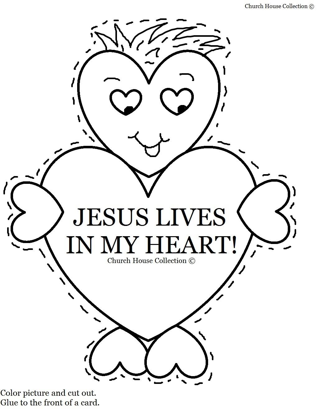 Valentine Jesus Lives In My Heart Card Craft