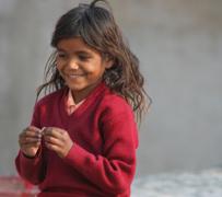 Happy rooftop girl - Pushkar
