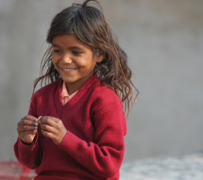 Happy rooftop girl - Pushkar