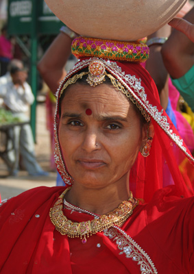 Water lady _ pushkar