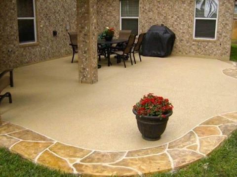 design ideas for stamped concrete patio