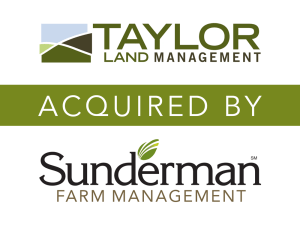 Taylor Land Management acquired by Sunderman Farm Management