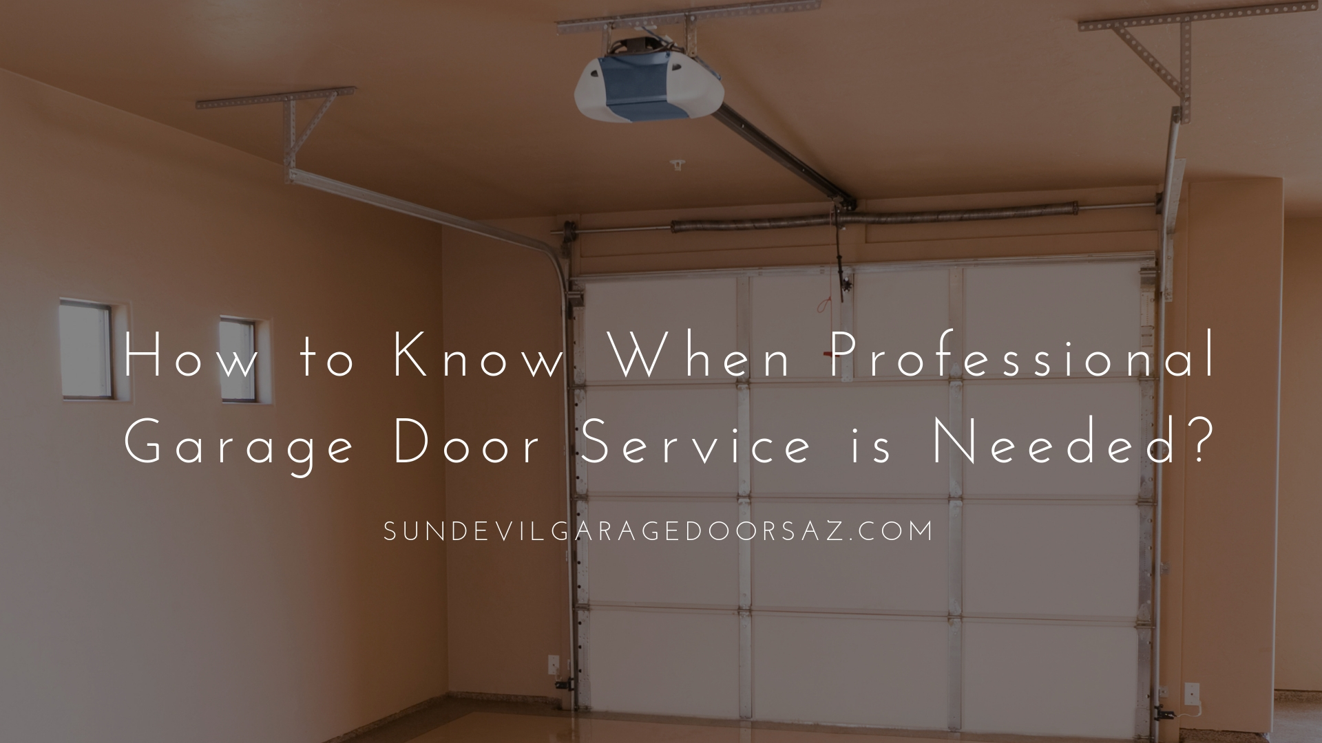 How to Know When Professional Garage Door Service is