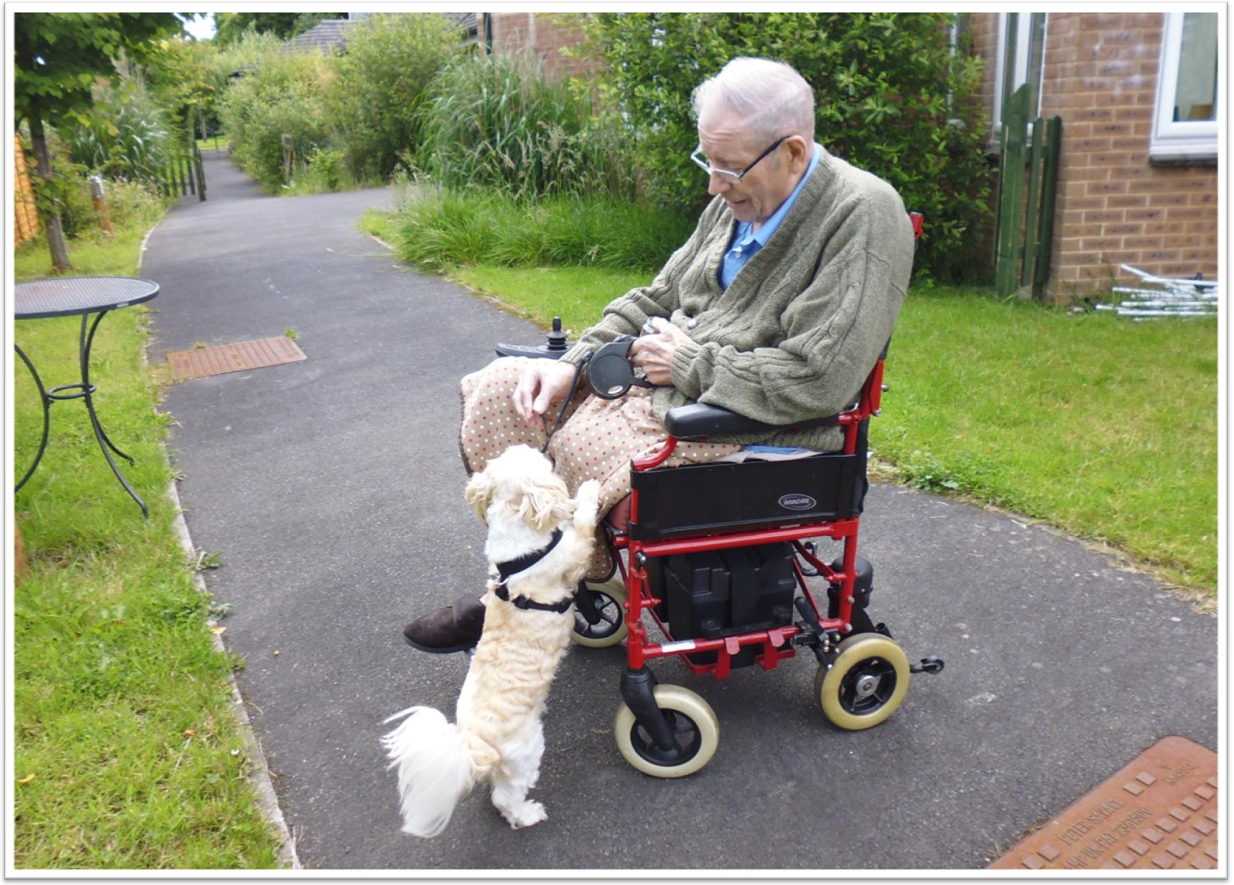 Man with Bertie the dog