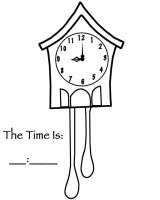Grandfather Clock Pendulum Coloring Page Coloring Pages