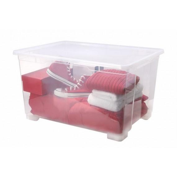 boite de rangement a roulettes l78xp56xh45cm clear box sundis shop