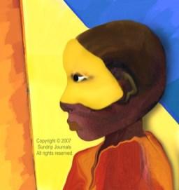 A Boys Mask - digital art
