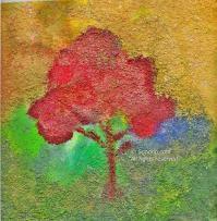 Falll Tree on denim