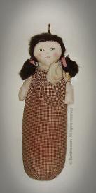 Handmade Recycle Plastic Bag Holder Doll 1
