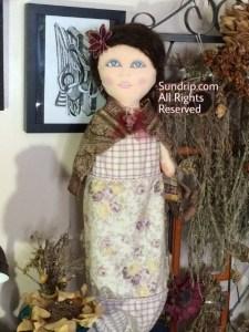 Rose bag holder doll