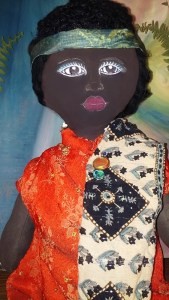Headband African American Art Doll