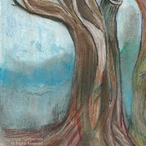 Tree in watercolor and ink d3