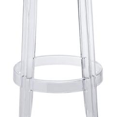 Ghost Bar Chair Wicker Cushion Stool