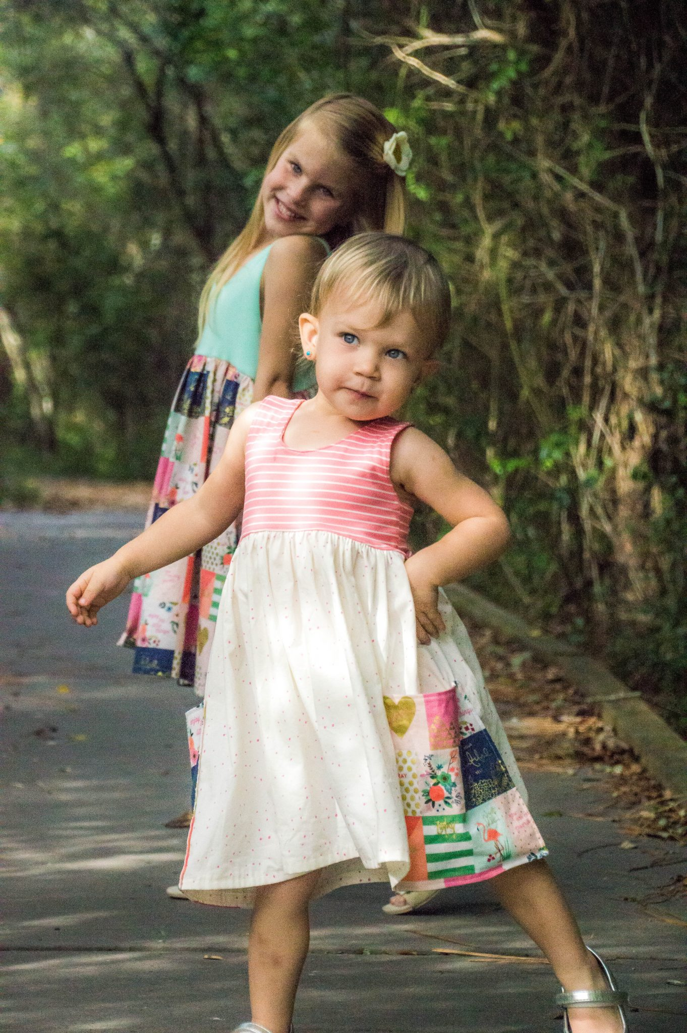 Sunflower Seams | Knit Lucy Bodice Add On, Simple LifePattern Company, PDF Sewing Pattern, Girls Size 2t-12, Baby Size NB-24 months, Dress, Top, Knit, Sleeveless, Racerback, Baby, Girl, Riley Blake, Summer, Spring, Back to School
