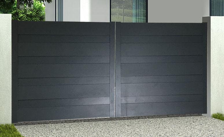 doria portail battant alu gris ral 7016 en kit