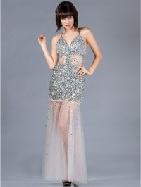 Dazzling Silver Special Occasion Long Dress   Sung ...