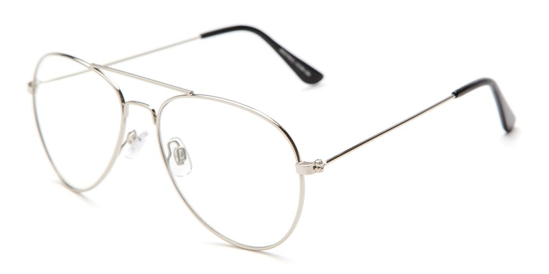Metal Aviator with Fake Clear Lenses