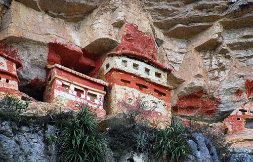 Grobowce Chachapoyas w Revash
