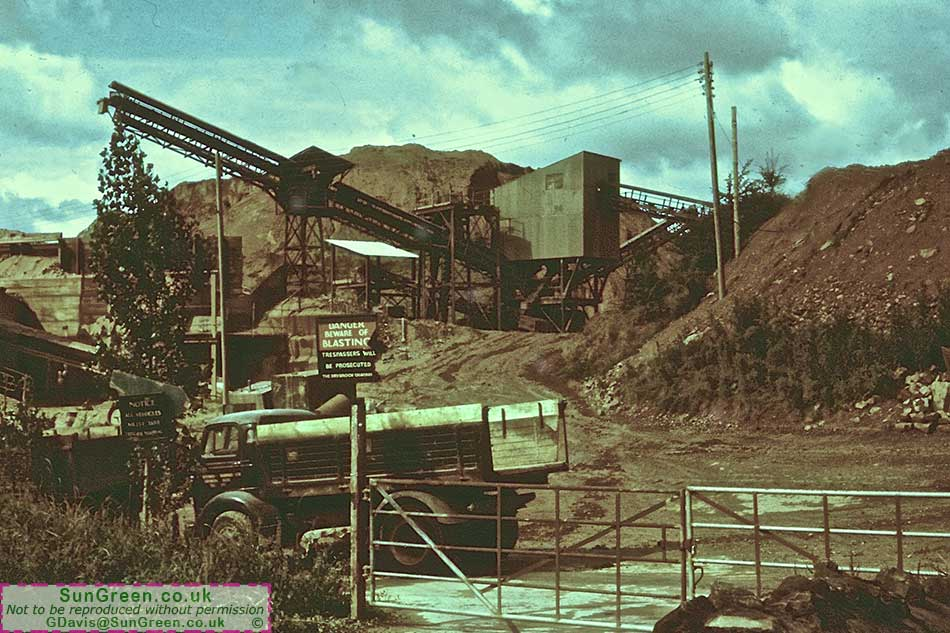 Drybrook Quarry Gloucestershire In 1962