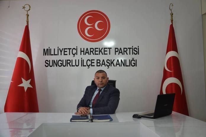 MHP Sungurlu İlçe Başkanı Yasin Şahin, KKTC Cumhurbaşkanı Akıncı'nın Türkiye ile ilgili ifadelerini kınadı.