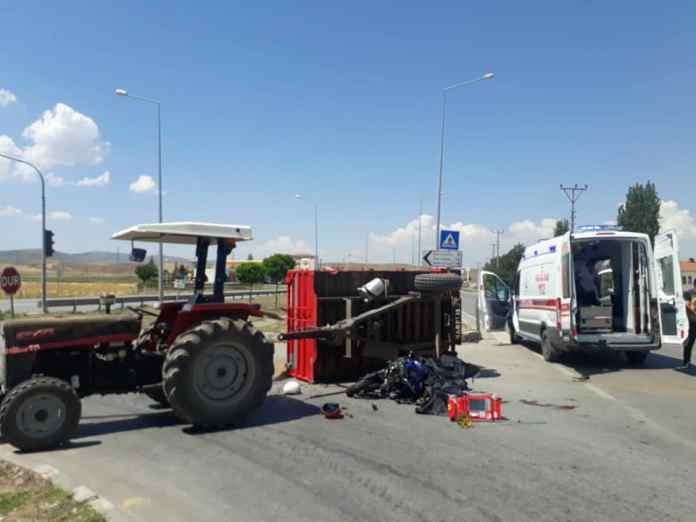 sungurlu haber merkezi kaza motosiklet traktör kamyon otomobil araba