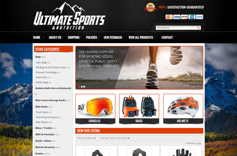 Sunil Chauhan's ebay project - Ultimate Sports & Nutrition