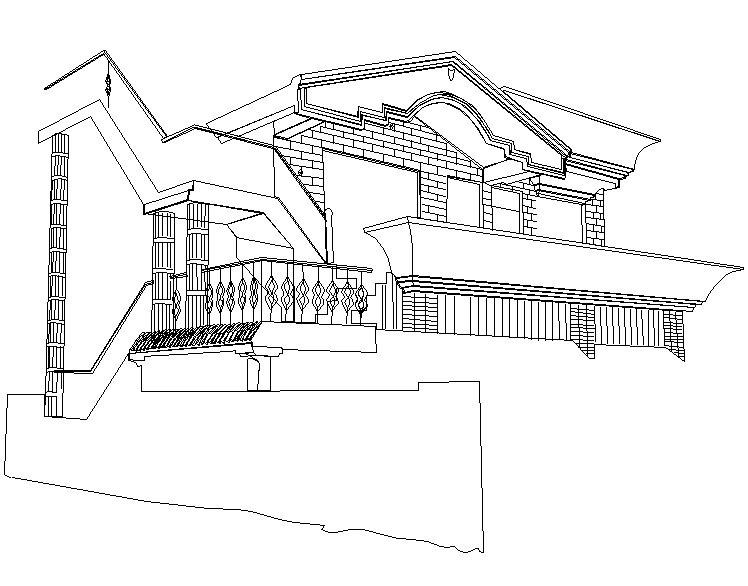 Home Sweet Home illustration Outline