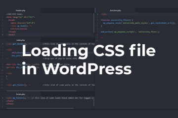 Loading CSS file in WordPress