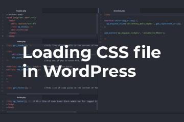 Loading CSS file in WordPress