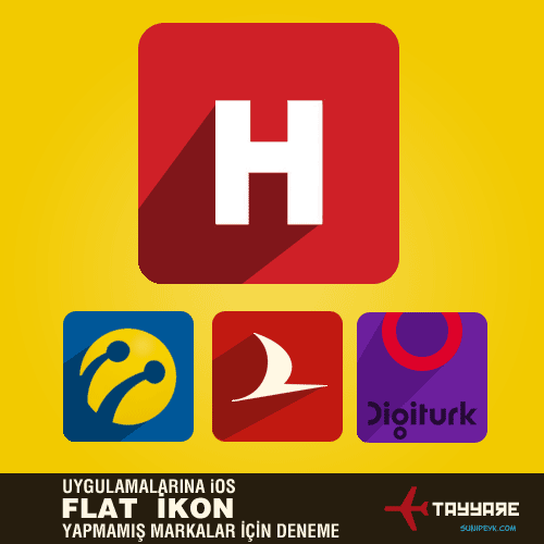 flat icons 4 brands