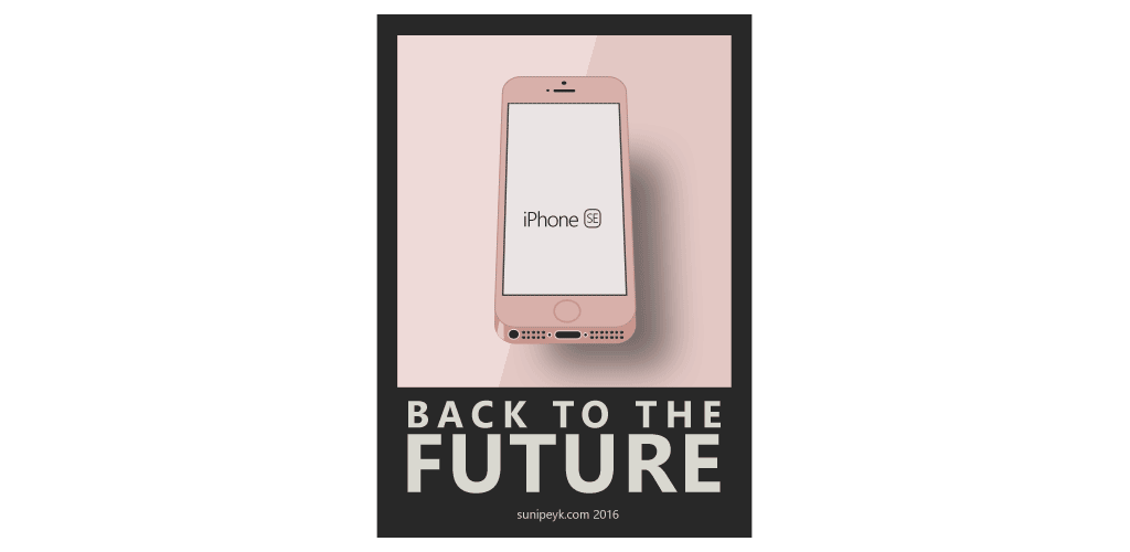iPhone SE poster